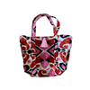 Velvet ikat chuck it all in bag - Pink, Orange & Black