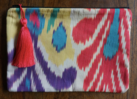 Ikat iPad bag - Multi