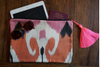 Ikat iPAD case - Pink & Orange