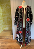 Suzani Duster Coat - Red flower