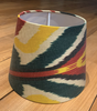 Ikat Lampshade - Terracotta & green