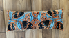 Orange and blue Velvet Ikat - XL Bolster Cushion