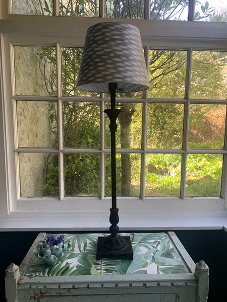 Silver Grey Silk Ikat Shade