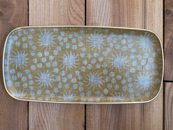 Yellow Starburst fibreglass tray