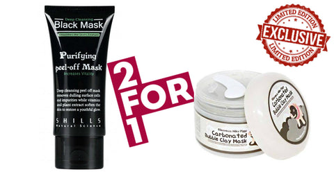 Perfect Black Mask + Bubbly Carbon Clay Mask Combo - BUY 1 GET 1 FREE!