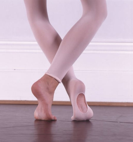 cf0ba1d102266 ... Little Girl's Pink Convertible Tights for Ballet with Extra Strong  Fabric - - ...