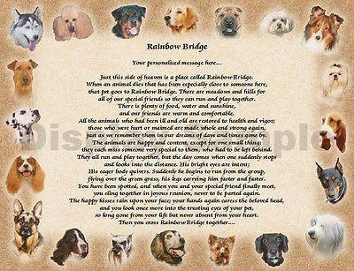 Memorial Gift For Your Pet, Our beloved pet, Remember our pet, lost of pet, Rainbow bridge