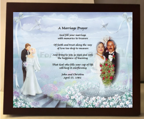 Gift For Happy Couples, Wedding Gift, Bridal shower gift, sweetheart, poetry, poem