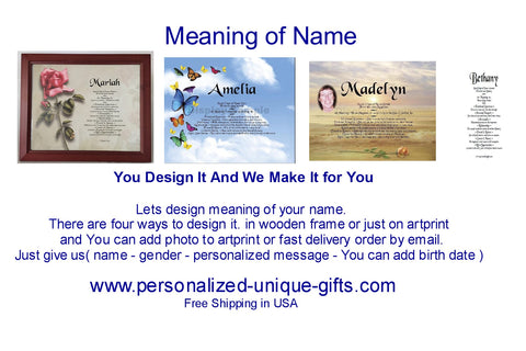 Name meaning gift,Personalized-Unique-Gifts Blog,  You Design It And We Make It For You, We offer Free shipping in the USA plus No Sale Tax, We paid it.