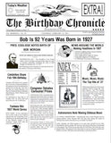 Headline News, Person Name is in headline, year of birth is in headline, Birthday Chronicle, personalized gifts, personalize gifts, personalized-unique-gifts