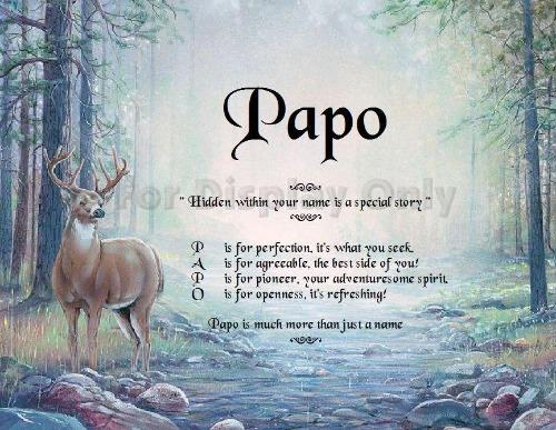 Acrostic poem meaning, Acrostic poem, Papo, Name Poem gifts, Acrostic poem Deer background, personalized-unique-gifts, personalized gifts