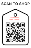 Scan Code, Acrostic Name For Kids, Personalized Unique Gifts
