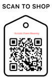 Scan Code, acrostic poems  meaning, Personalized Unique Gifts
