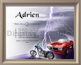 Acrostic poem gift, Adrien, acrostic poem with wooden frame, Personalized Gifts, personalized-unique-gifts, personalize gifts