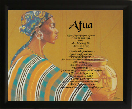 Afua, African, First name meanings in frame, baby name, Personalize Gift , Personalized Gifts, Design Gifts, personalized-unique-gifts