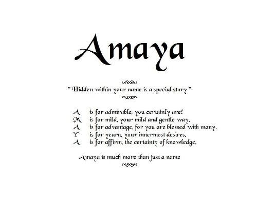 Acrostic Name Poems, Order by email, Amaya Poem, Poem Name, personalized-unique-gifts