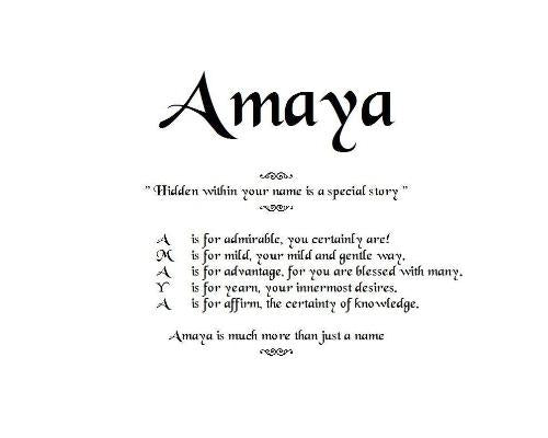 Acrostic Name Poems, Order by email, Amaya Poem, Poem Name, personalized unique gifts