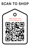 Scan Code, Baby Acrostic Poem, Personalized Unique Gifts