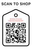 Shop Scan Code, Birthday Chronicle As PDF, Personalized Unique Gifts