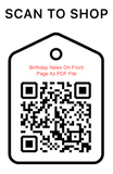 Shop Scan Code, Birthday News on Front Page As PDF, Personalized Unique Gifts