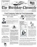 birthday Chronicle, newspaper, front page newspaper, day You was born on, birthday gift, Personalized Gifts, personalized-unique-gifts