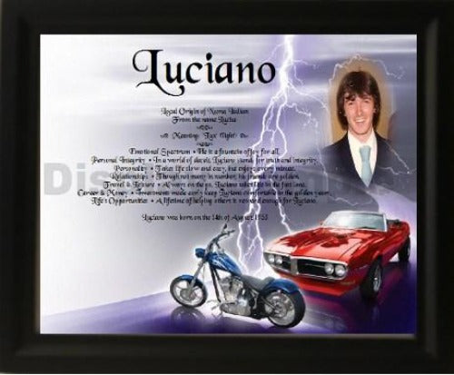 Personalized Name Meaning Plus Photo - $43.99
