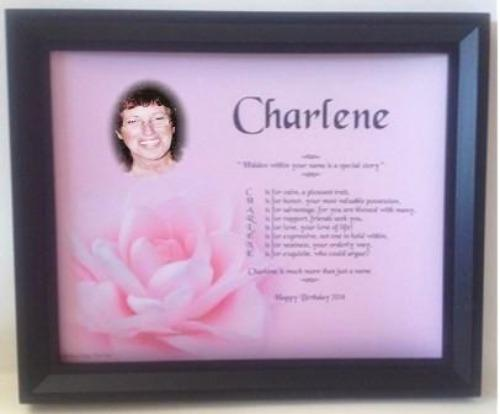 Name Poem Gift, Name Poem plus your photo in Wooden frame, name poem gift, name poem, personalized-unique-gifts.com