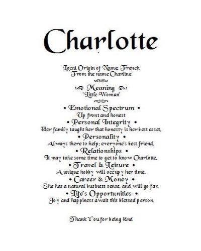 Charlotte, first name meaning, Order by email, name gift, gift by email, personalized-unique-gifts, personalized gifts, personalize gifts