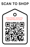 Shop Scan Code, Cherry wooden Jewelry Box, Personalized-Unique-Gifts
