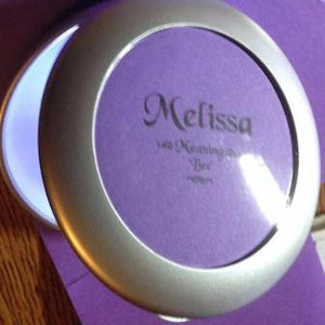 Name Lighted Compact Mirror, name item, compact with color cover, girlfriend gift, Mother's Day gift, personalized-unique-gifts