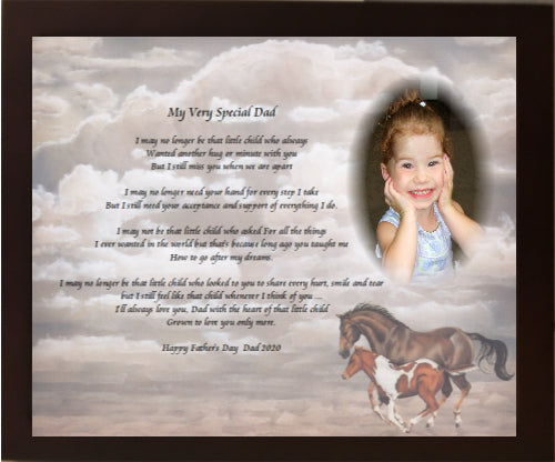Father's Day, My Very Special Dad, memorial gift, your own written poem gift, Personalized Gifts, personalized-unique-gifts