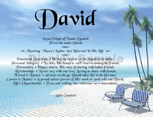 Words Of David Name, create a name in your own words, write my own words, name meaning in your own words, design your name, personalized-unique-gifts