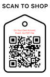 Shop Scan Code, Do your own written acrostic poem AS PDF, Personalized Unique Gifts