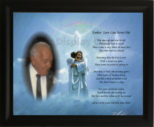Father Love Can Never Die, For love one, memorial gift, your own written poem gift, grief Gifts, Personalized Gifts, personalized-unique-gifts