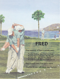 Make Your Own Acrostic Name Poem, Fred, Acrostic poem gift, Golf background with your own written acrostic poem, Personalized Gifts, personalized-unique-gifts