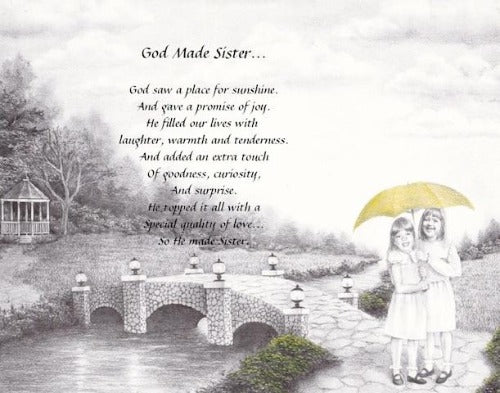 God Made sister, sister, poem for sister, personalized gifts, personalized unique gifts