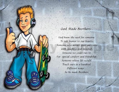 God Made Brothers, Poem for My brother, brother, personalized gifts, personalized unique gifts