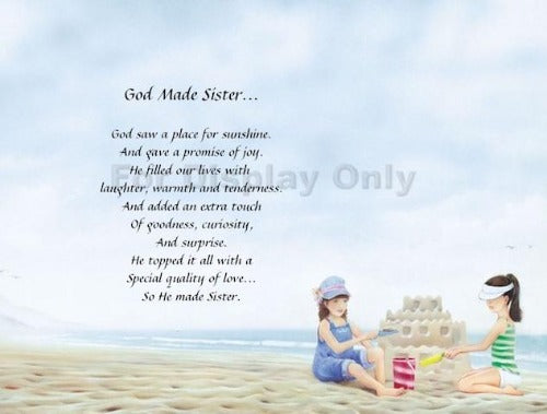 God Made sisters, sisters, poem for sister, personalized gifts, personalized unique gifts