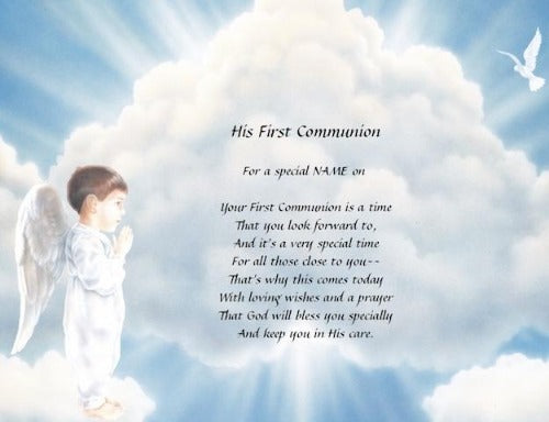 His First Communion, church on first communion, personalized gifts, personalized unique gifts