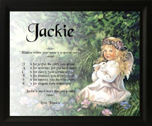 Personalised Acrostic name poem, Jackie, Design Acrostic poem Frame, kids gift, Poem name gifts, Name Poem, personalized-unique-gifts, personalized gifts, personalize gifts