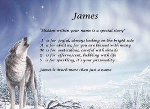 Acrostic poem gift, make your own acrostic poem with screen has wolf, Personalized Gifts, personalized-unique-gifts, personalize gifts