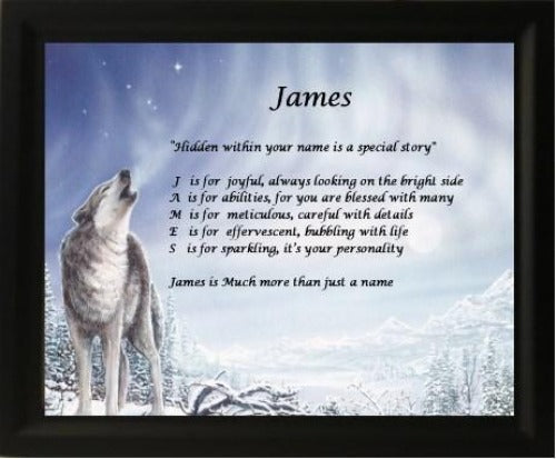 Acrostic poem maker, make your own acrostic poem with wolf screen gifts, personalized unique gifts, personalized gifts, personalize gifts