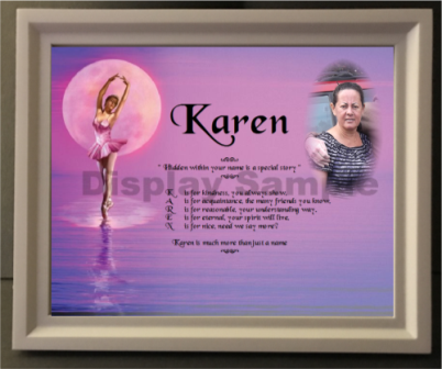 Let us create Acrostic Poem for you in ballerina background , Acrostic poem gift, acrostic poem insert your photo plus wooden picture frame, personalized-unique-gifts
