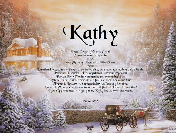 Kathy, name meaning, First name meaning, background  Christmas l, Personalized Unique Gifts, personalized Gifts