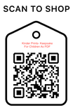 Shop Scan Code,Kinder Prints - Keepsake For Children As PDF, Personalized Unique Gifts