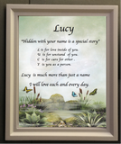 Acrostic poem maker butterfly screen , make your own acrostic name poem gifts, personalized-unique-gifts