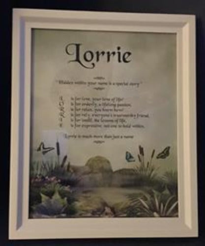 Name Poem in picture frame, Name poem gift, Acrostic poem, Name Poem, personalized gifts, personalized-unique-gifts.com