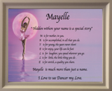 Acrostic poem maker Ballerina background , make your own acrostic name poem gifts, personalized-unique-gifts