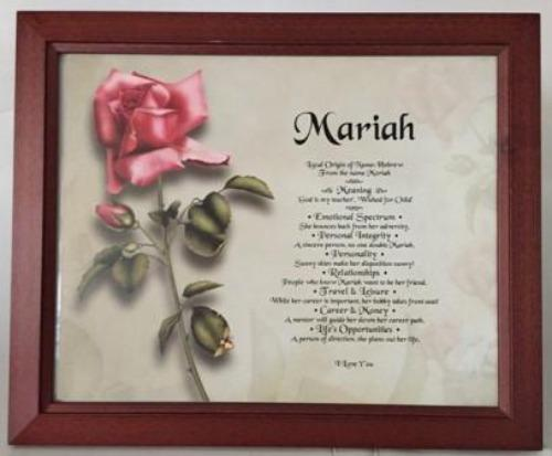 Mariah, name meaning gift, name, meanings of name, baby name, personalized-unique-gifts.com