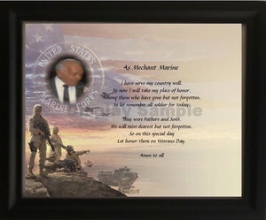 My dad, Merchant Marine, World War ll, Personalized Unique Gifts